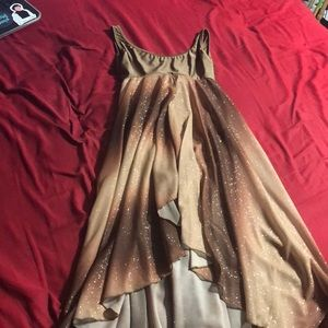 Sparkly brown dance costume